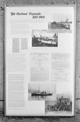 "Close up of display panel  ""The Harbour Expands 1887-1904"" for the City of Vancouver Ar..."