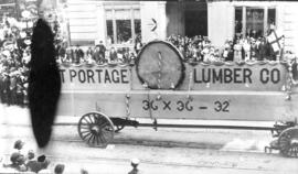 Industrial parade, held in Vancouver [Portage Lumber Co. float]