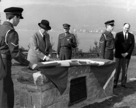 Unveiling of memorial to three Batteries of 15th [Vancouver] Coast Regiment