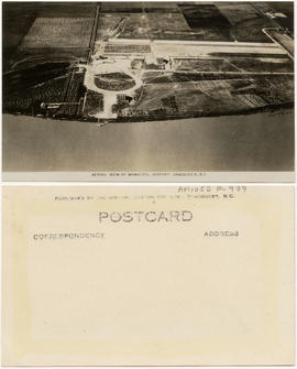 Aerial view of municipal airport, Vancouver, B.C.