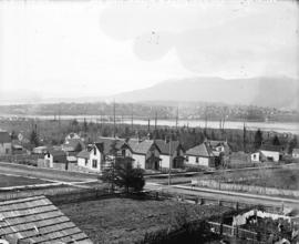 [View of Mount Pleasant, from the firehall on Ninth Avenue (Broadway), between Quebec Street and ...