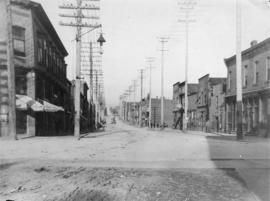 Dupont [later Pender] and Carrall Streets, looking east