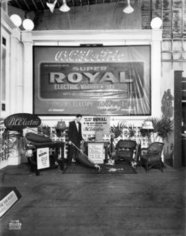B.C. Electric display of Royal vacuum cleaners