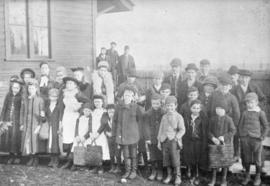 [Students of the first public school near the southeast corner of Edmonds Street and Douglas Road]