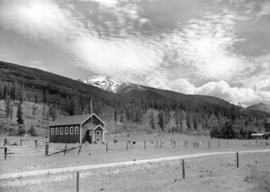 Small school house [in the] Rockies