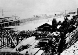 First C.P.R. Train arriving in Vancouver May 1887