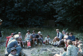 Group of children sitting in a circle at Camp Capilano