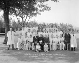 H.M.S. Danae C.C. [versus] Army and navy Veterans C.C. - Brockton Point - Aug. 8, 1935 - Vancouve...