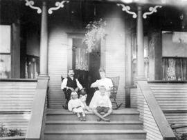 [Group portrait of the Charles Gross family on the porch of residence - 83 Chesterfield Avenue]