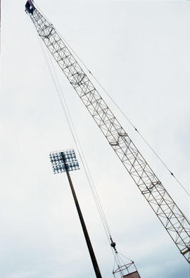 Erecting lights at Nat Bailey [26 of 29]