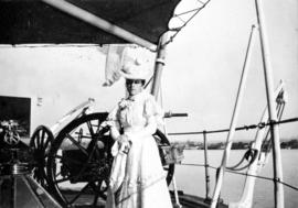 """Nellie"" [Mrs. R. M. Pidgeon on board ship]"