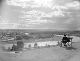 [Looking west across the Bow River from North Hill]