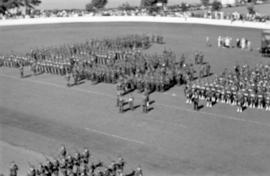 Military Review at Brockton Point Grandstand for Golden Jubilee celebration