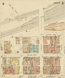Plate 3 [Seymour Street to Burrard Inlet to Hornby Street to Pender Street]
