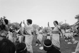 Outdoor odori dancing during Powell Street Festival