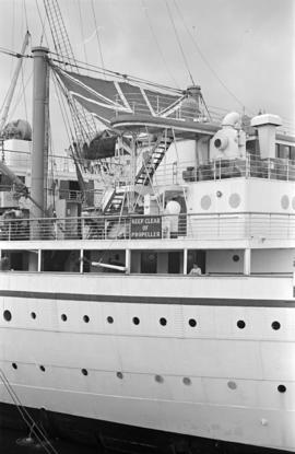 "[The upper decks of the ""Empress of Canada""]"