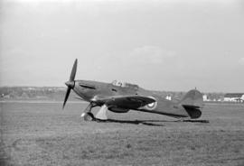 [A Hawker Hurricane with air force pilot]