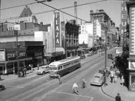 [Looking north on] Granville Street [from] Smithe Street