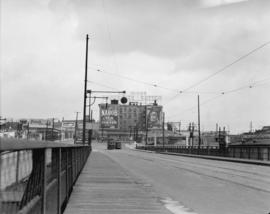 Taken for Duker and Shaw Ltd., billboard advertising [Granville Bridge, north end]