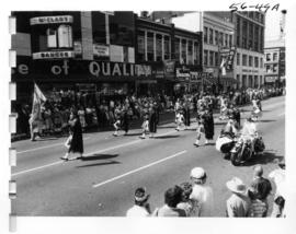 Pipe band in 1956 P.N.E. Opening Day Parade