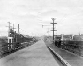 [View of Hudson Street looking north from the Marpole Bridge]