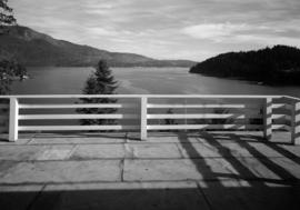 [View from the balcony of Haulterman House on Bowen Island]