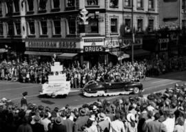 Baker Catering Service float in 1947 P.N.E. Opening Day Parade