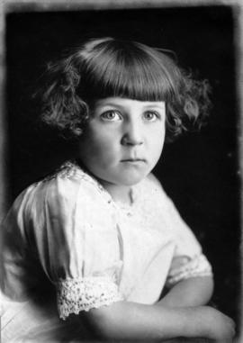 Portrait of a young girl of French parentage