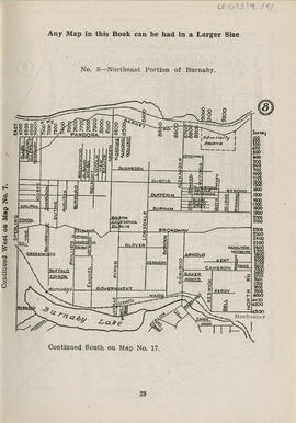 Sectional map and street directory of Vancouver, British Columbia : [North Road to Barnet Road to...