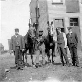 Group of Vancouver firemen with horses.
