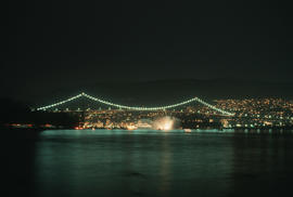 Lighting of the Lion's Gate Bridge