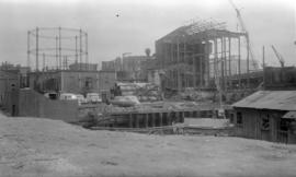 B.C.E.R. [British Columbia Electric Railway] Old Gas Works [being demolished]