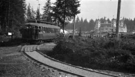 [Streetcar arriving at the first Vancouver Exhibition via McGill Street]