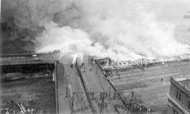 [View of fire at C.P.R. Pier D]
