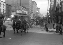68th C.F.A. parade [along E. Hastings Street]