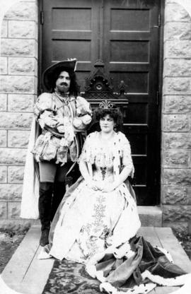 "[Alfred T. Layne, actor, in ""musketeer"" costume with Daisy D'Avara as ""Queen""]"