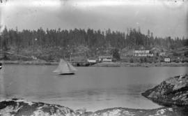 [Waterfront buildings at Lund, B.C.]