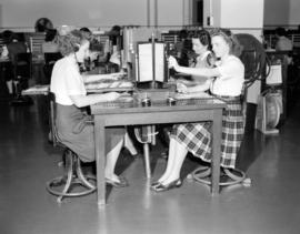 [B.C. Telephone operators at work]