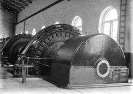 [Interior of power house for Buntzen Lake Power Plant number one]