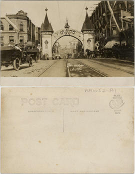 German Arch [at Georgia and Granville Streets, erected for Duke of Connaught's visit]