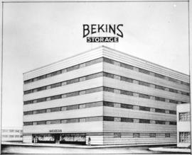 [Job no. 760 : photograph of an architectural drawing for Bekins Storage]