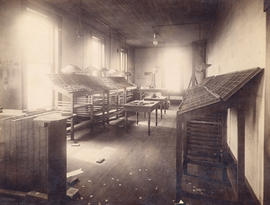 [Composing room of The Telegram Newspaper at 321 Cambie Street]