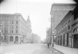 [View of Hastings Street, looking east from Howe Street]