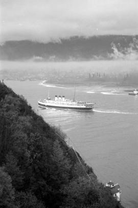 "[View of  a C.P.R. ""Princess"" ship from Prospect Point]"