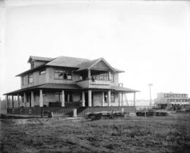 [Partially constructed Timms residence at Langley Prairie]