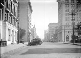 [View of Hastings Street, looking east from Vancouver Club]
