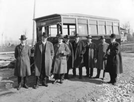 [The opening of the B.C. Electric Railway Company bus line on Grandview Highway]