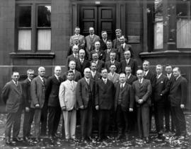 "W.H. Powell [in group photograph outside ""The Engineering Institute of Canada""]"