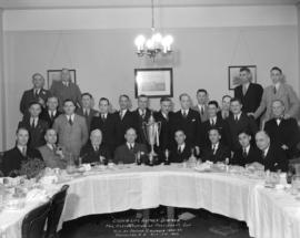 Crown Life Agency Dinner for Presentation of President's Cup won by British Columbia 1933-34...