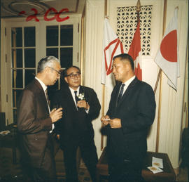 Yokohama Mayor I. Asukata at P.N.E. event